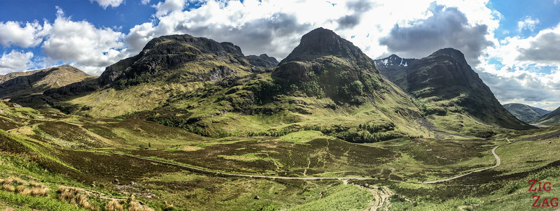 A82 Glen Coe Scotland - meeting of the 3 sisters 1