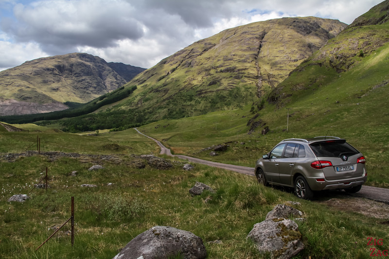 Driving Glen Etive Scotland 4