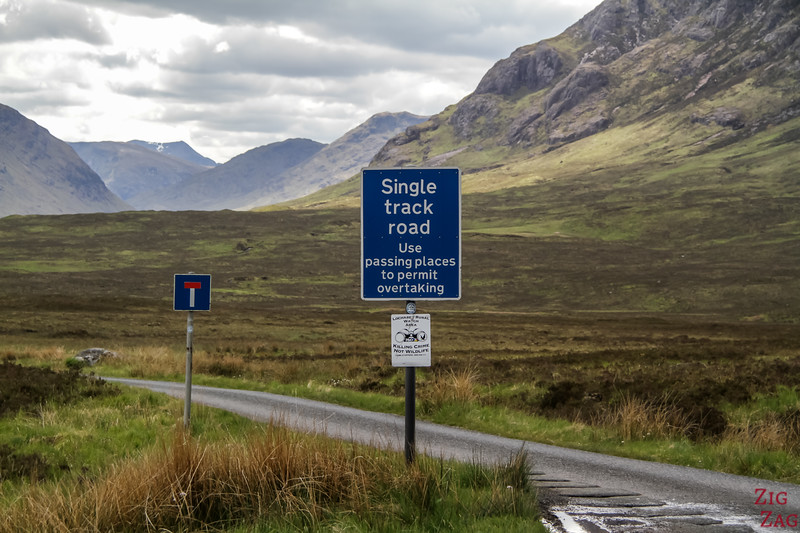 Entrance to Glen Etive - Single track road