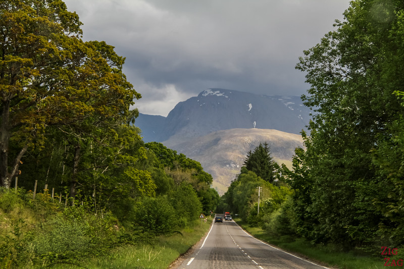 Road to the isles Scotland - Ben Nevis view