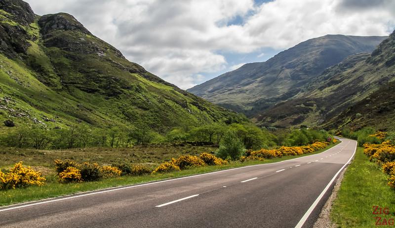 Top Scotland Attractions Glens - Glen Shiel