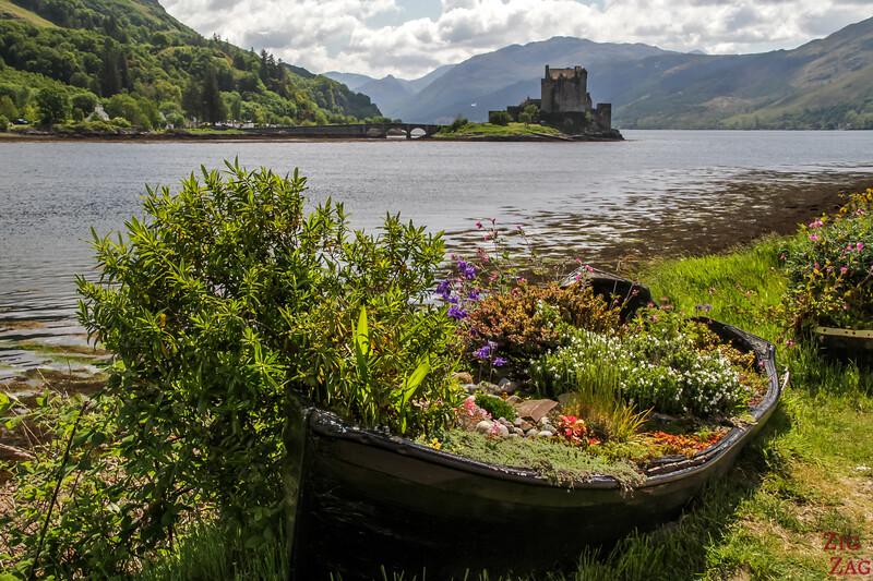 Dornie Jettie vue Chateau Eilean Donan Ecosse 5