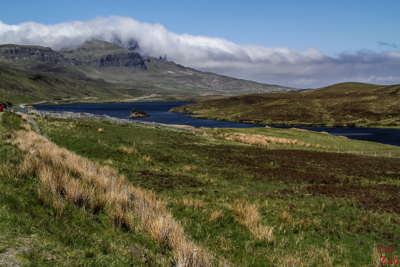 the Old Man of Storr Skye view Loch Fada 1