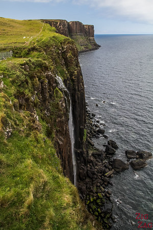 Attraction ile de Skye ecosse - Kilt Rock Mealt Falls