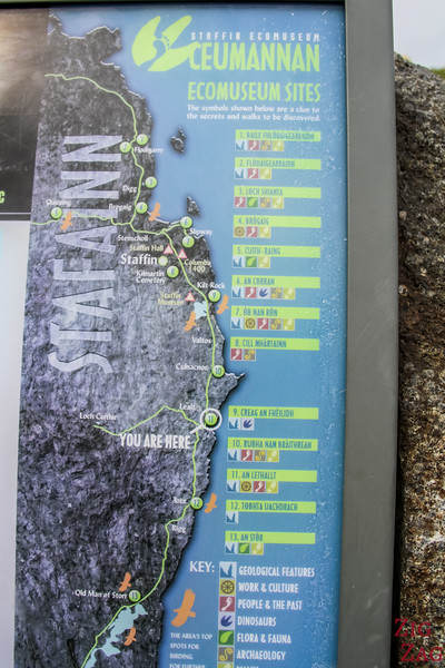 Staffin Ecomuseum Map Kilt Rock Isle of Skye