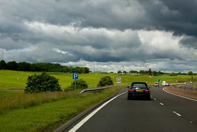 Going through Scotland.