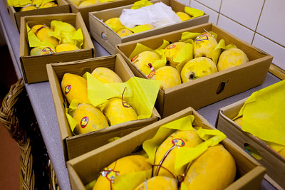 Saadia brought cases of Pakistani mangoes!  They were all gone by the time we left.