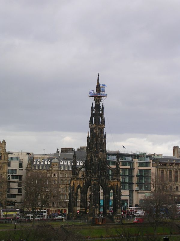 Sir Walter Scott Monument as seen from the Royal Mile.