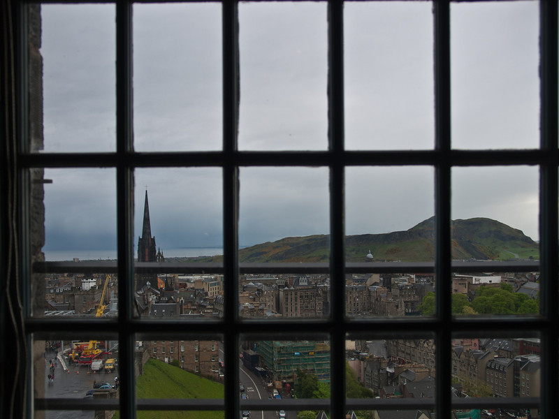 View from Edinburgh Castle looking east toward Holyrood Park