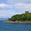 Castle in Oban's harbor