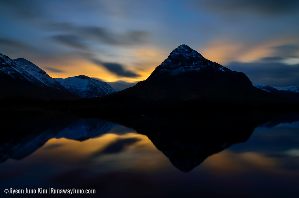 The perfect reflection of the mountains in Glen Coe