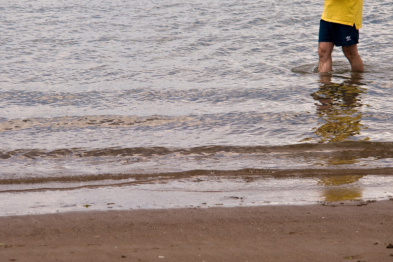 Traditional British seaside<br /> Ganavan Beach, Oban, July 2009