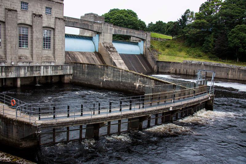 Hydroelectric dam on the Tummel River, about ½ from Pitlochry's main street.