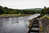 Fish ladder on the River Tummel. Salmon and trout use it to spawn in the lake behind the damm