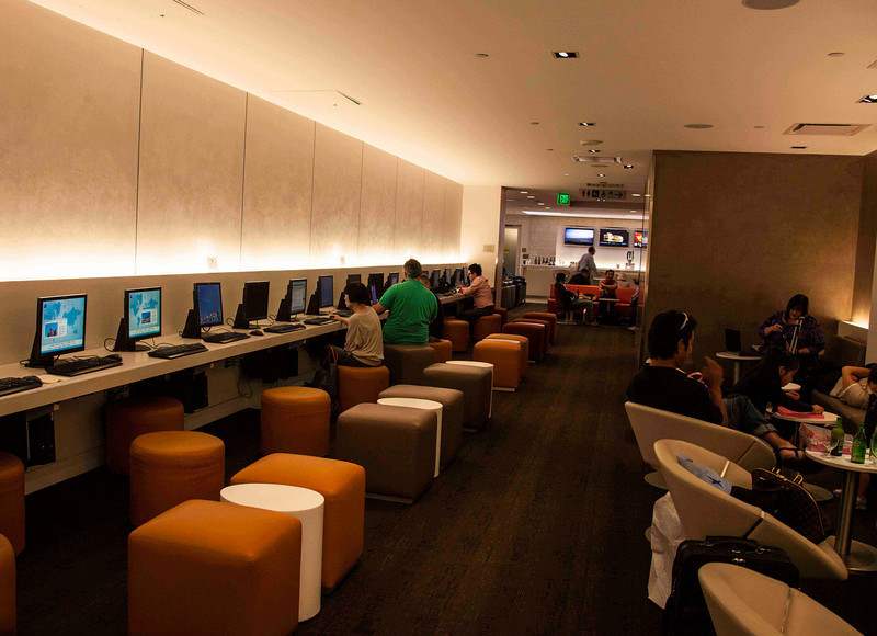 LAX-American Airlines Business Class Lounge