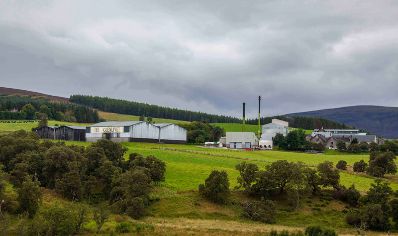 The Glenlivet whisky distillery
