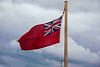The British Maritime Flag flown by all UK ships, but never on land.