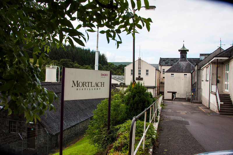 Mortlach, now defunct, was bought by Diageo, a distributor. Its distillery-bottled whisky is very rare and sold only in Dufftown until it runs out. We snagged a bottle.