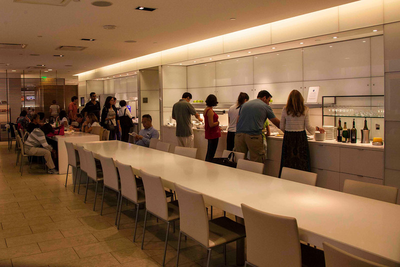 LAX-American Airlines Business Class Lounge Buffet