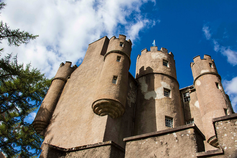 Knight's eye view of Braemar Castle