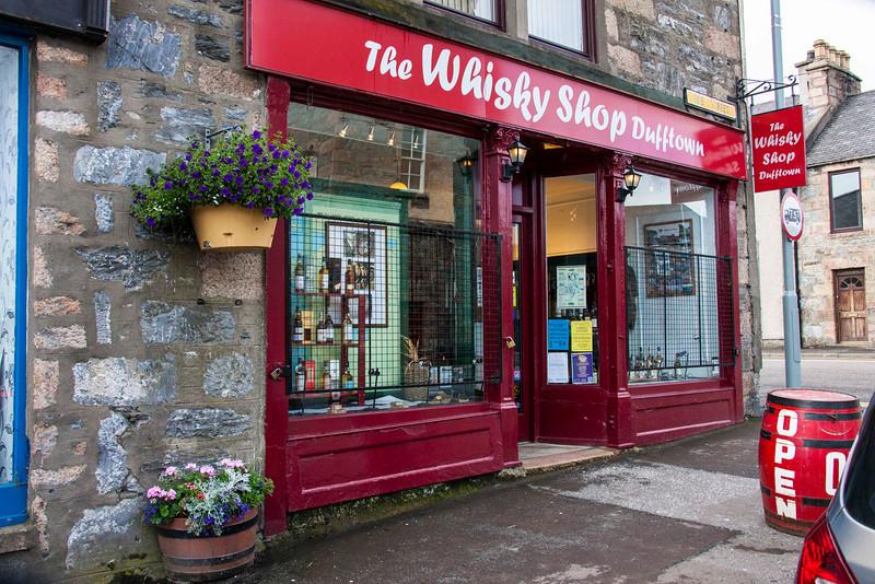 Theeeee whisky store of Dufftown.