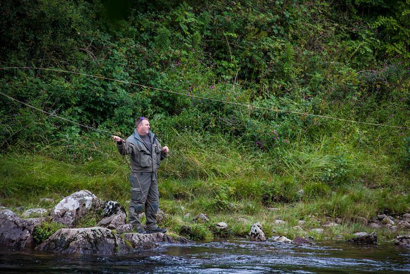 Fly fishing on the River Tummel