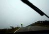 Cycling in Scotland is dicey at best. This was at high noon on one of the widest roads in Scotland.