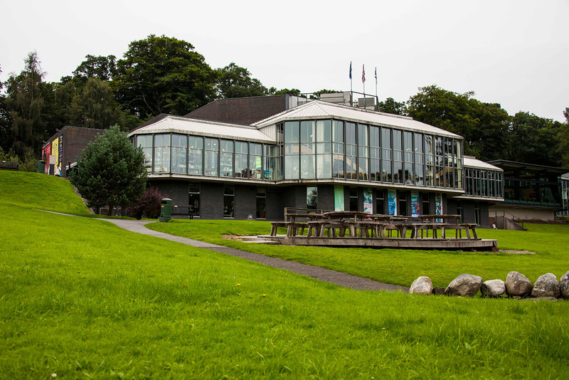 Pitlochry's FestivalTheater and community center.