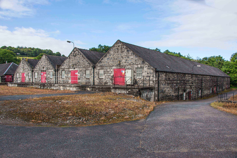 These warehouses hold thousands upon thousands of casks of maturing whisky. Many of the defunct distilleries have been bought by distributers who will bottle the whisky and sell it, much of it here in the USA.