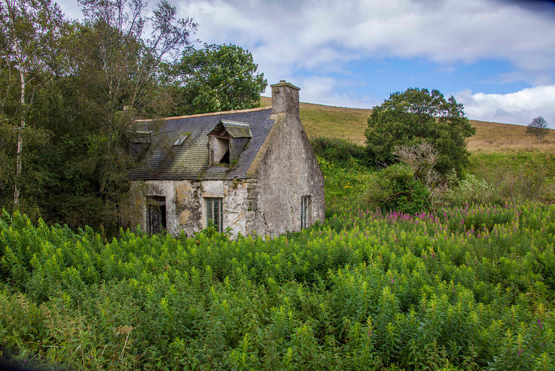 Many abandoned crofters cottages. It's a hard life.