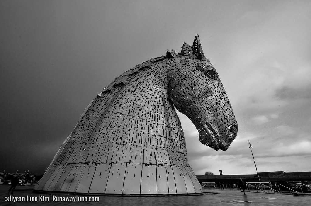 It started raining heavily, and it truly looked like the water monster kelpies.