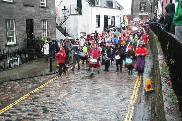 The Loony Dookers parading South Queensferry