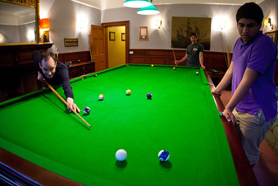 The snooker table was a big hit.  The games were excruciatingly long since nobody was a pool shark.