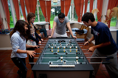 The foosball table also got a lot of use.