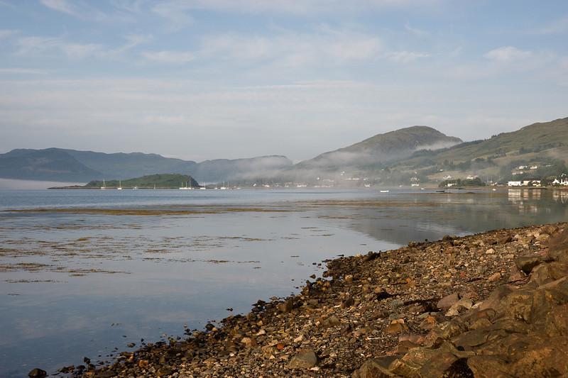 Last of the morning mist, Loch Carron