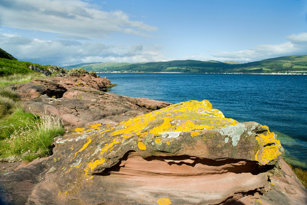 Sun over Great Cumbrae, Firth of Clyde.