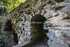 Bridge, The Hermitage pleasure ground, National Trust of Scotland, Craigvinean Forest, Scotland, United Kingdom
