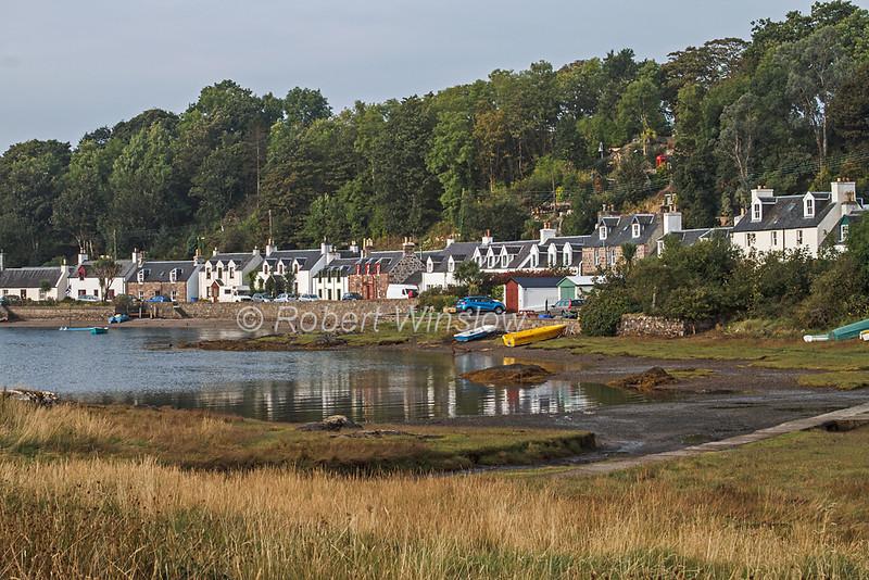 Village of Plockton, Loch Carron, Sea Loch, Scottish Highlands, Scotland; United Kingdom, Europe