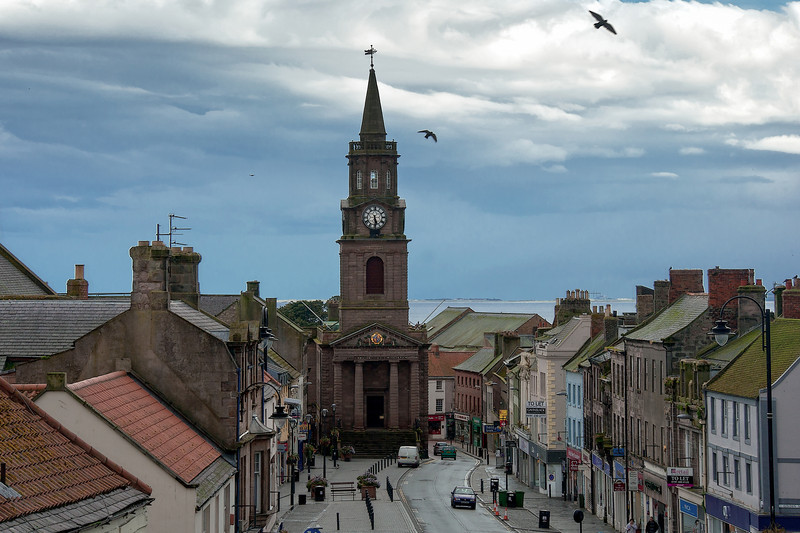 The Town Hall (1754) houses a ring of bells above the present day Council Chambers.