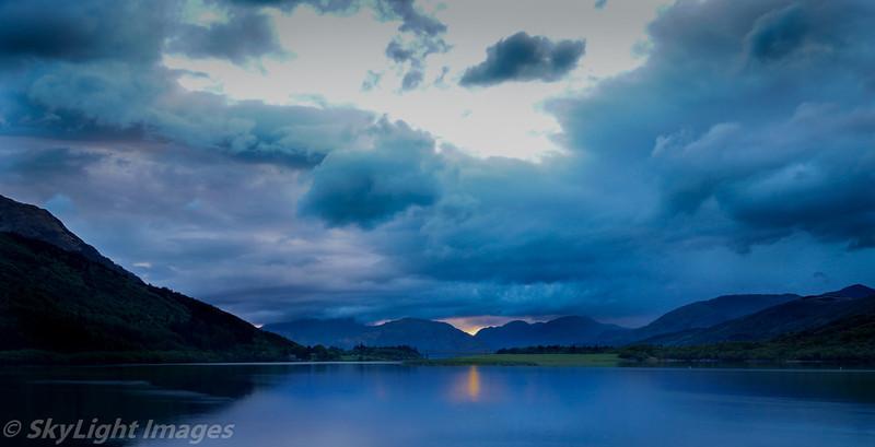 Sunset at Isles of Glencoe, Ballachulish