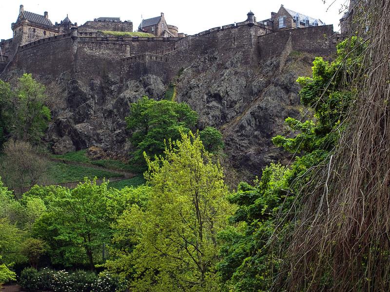 Edinburgh castle from the Princess Avenue Gardens