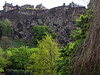 Edinburgh castle from the Princess Avenue Gardens