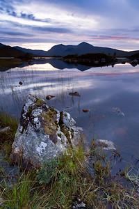 Loch Nah-Achlaise at twilight, Scotland, UK