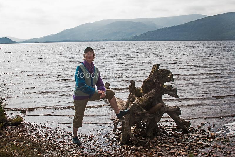 MR, Senior Woman, Loch Lommand, The Trossachs National Park, Scotland, United Kindom, Europe