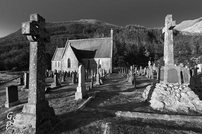 Cemetery on Loch Levan
