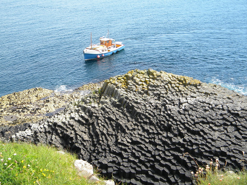 Basalt formations near Fingal's Cave