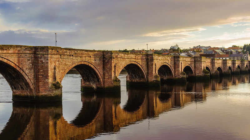 Berwick Bridge, also known as the Old Bridge, spans the River Tweed in Berwick-upon-Tweed, Northumberland, England. The current structure is a Grade I listed stone bridge built between 1611 and 1624.