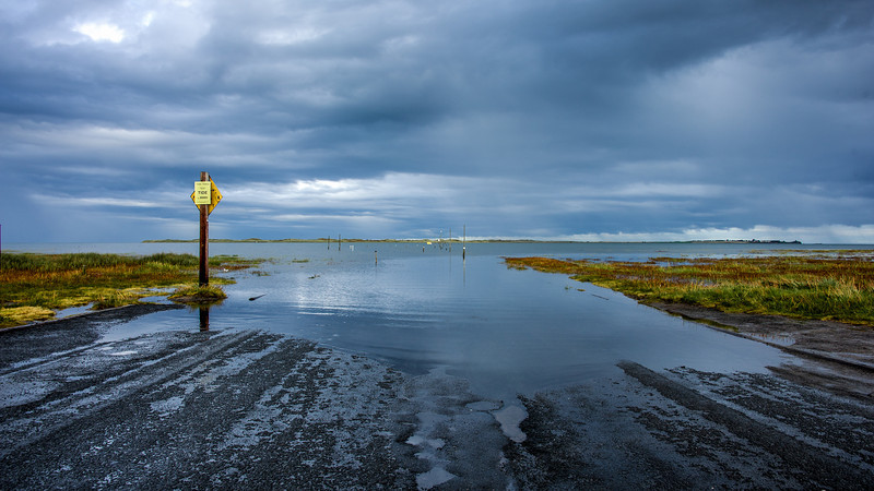 Holy Island is accessible from the mainland at low tide by means of a causeway.