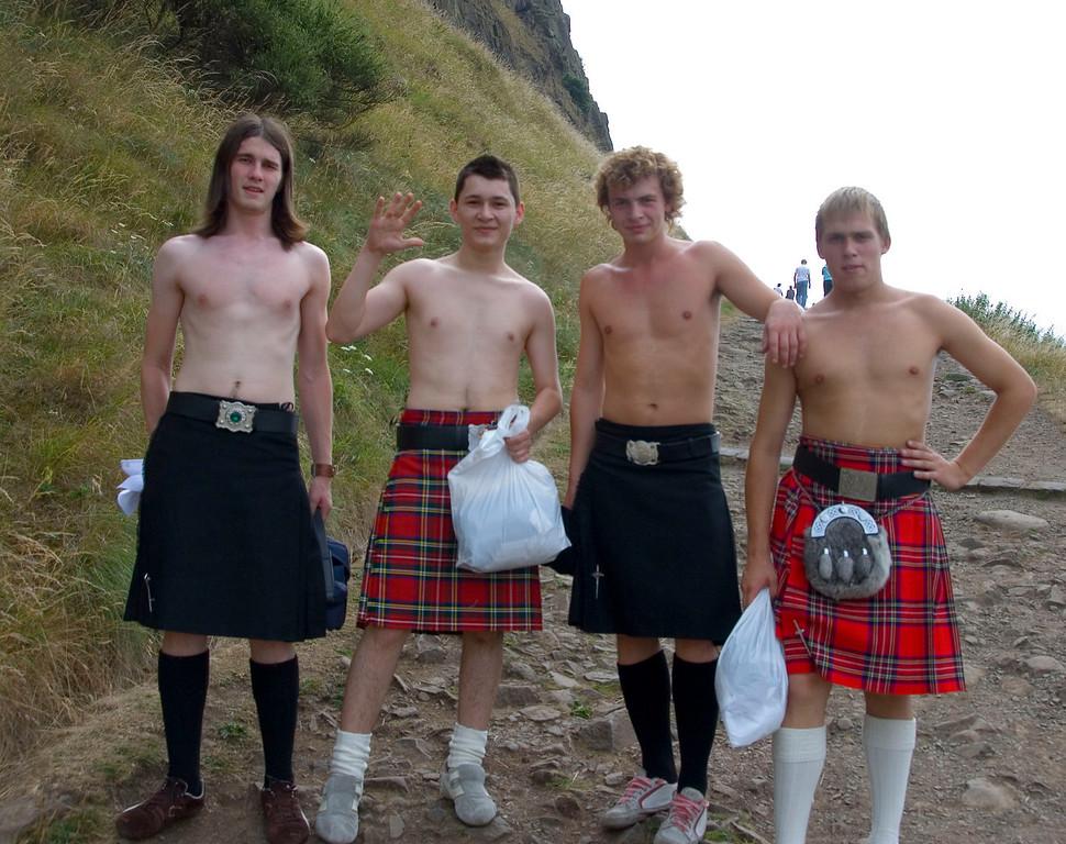 Kilt Boys, Holyrood Park, Edinburgh