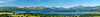 A panorama of Loch Lomond taken from the summit of Duncryne
